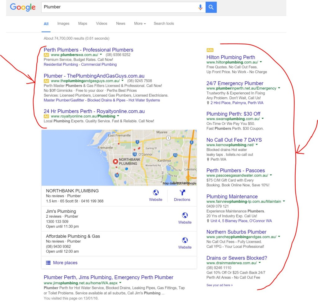 Plumber Google AdWords